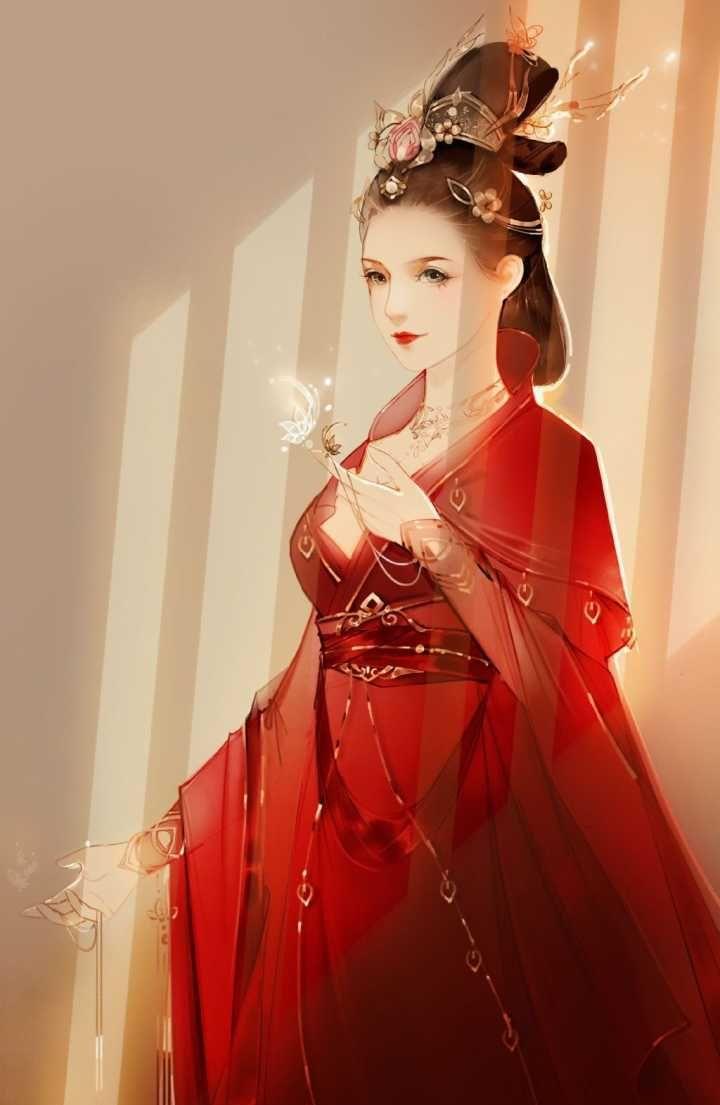 手绘古风绝代佳人壁纸:美人自古如名将,不许人间见白头