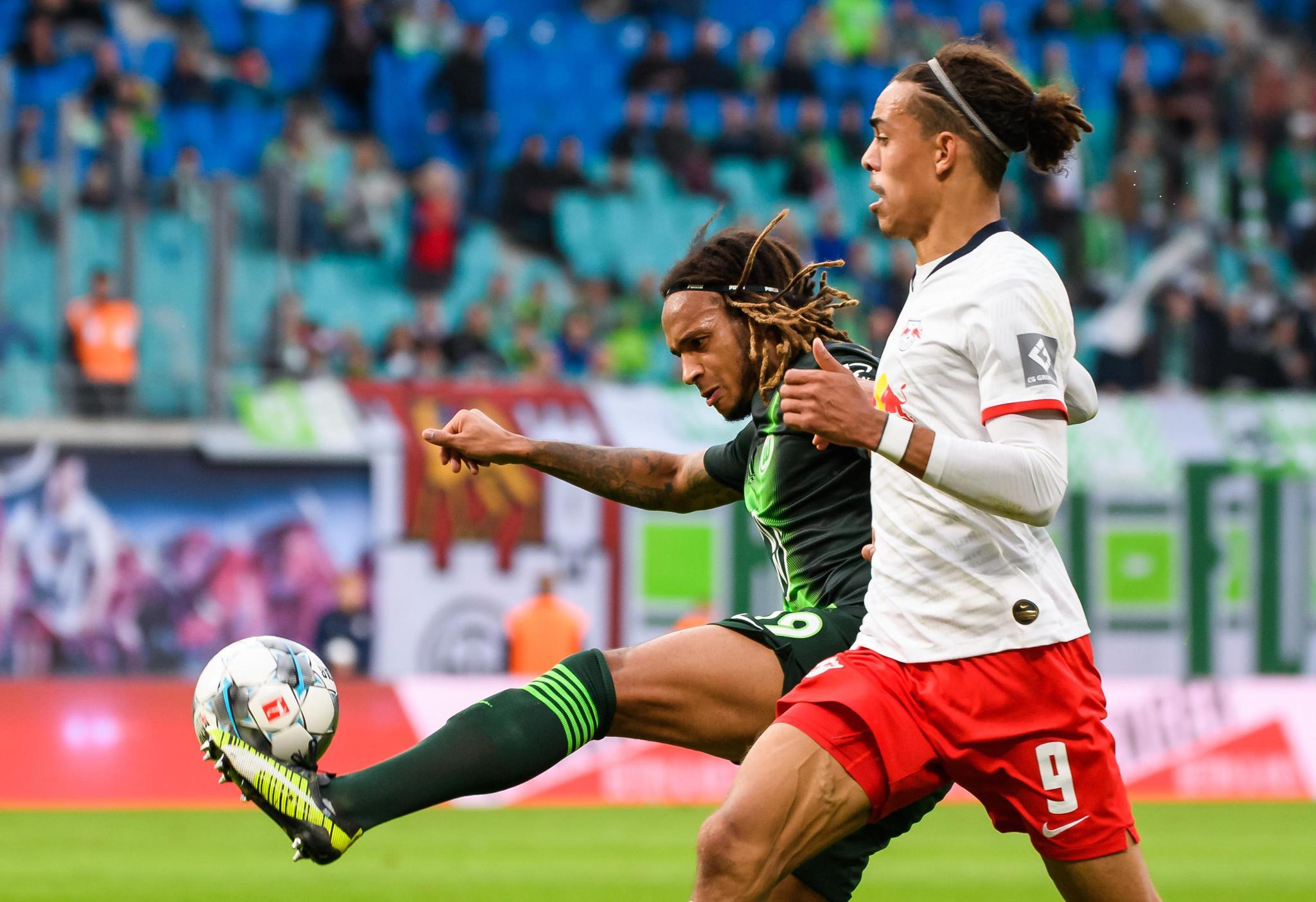 足球——德甲:莱比锡战平沃尔夫斯堡