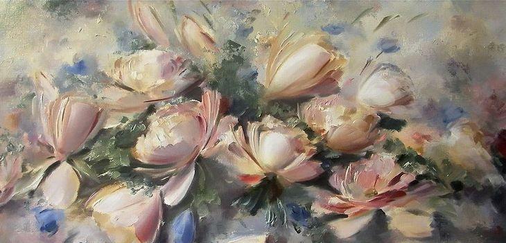 插画:白俄罗斯艺术家Oleg Buiko花卉作品,晶莹剔透的美