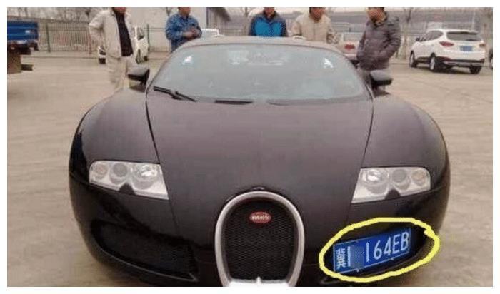 偶遇3800万布加迪,车主花20万打孔挂牌,一瞅车牌,霸气不