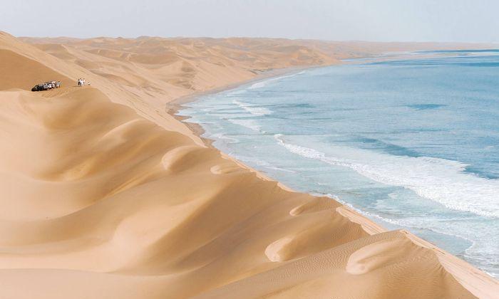 纳米比亚的海岸线
