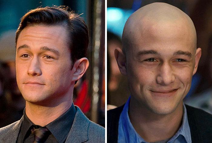 男明星剃光头前后对比照,剃头前是小鲜肉,剃头后更有男人味