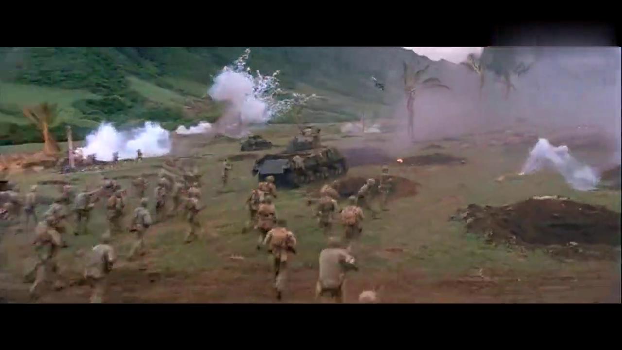 《风语者》战场上所谓的大兵压境,炮火连天的场面非常壮观!