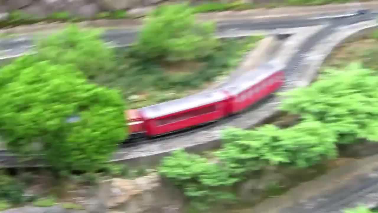之字形铁路模型最早应用于美洲矿山京张人字形铁路折返也如此
