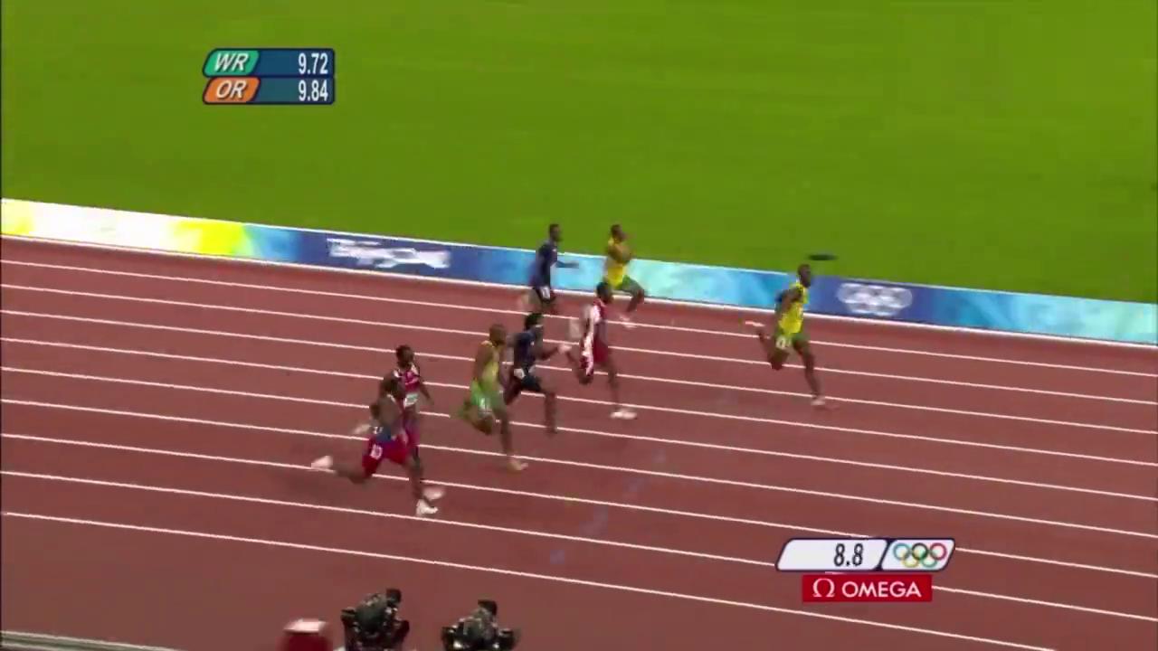 回忆:北京奥运会百米飞人大战精彩瞬间,博尔特太强悍了!
