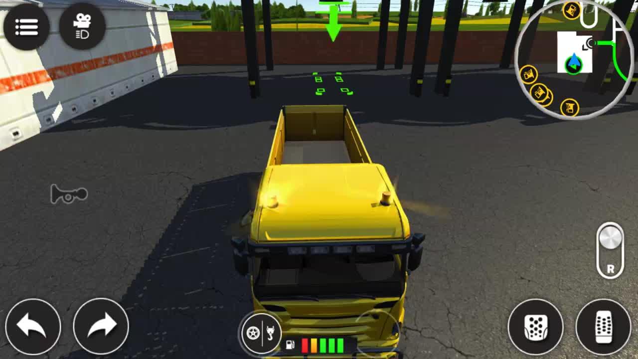 工程车动画自卸车到货场装卸沥青开始修路
