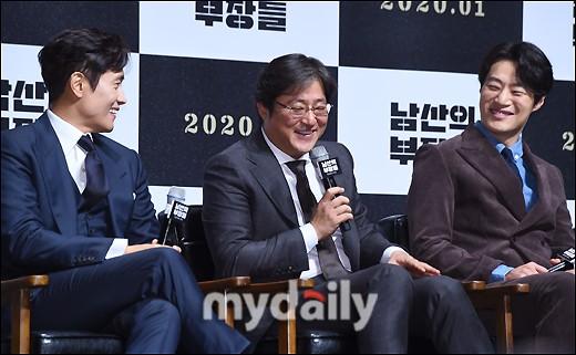 李秉宪等韩国艺人出席新片《南山的部长们》发布会