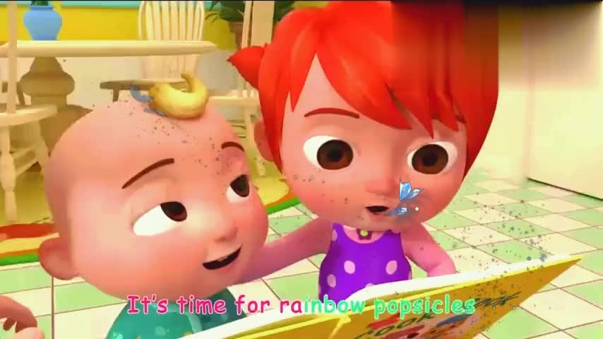 妈妈拿好多材料做冰棒,给宝宝们吃!
