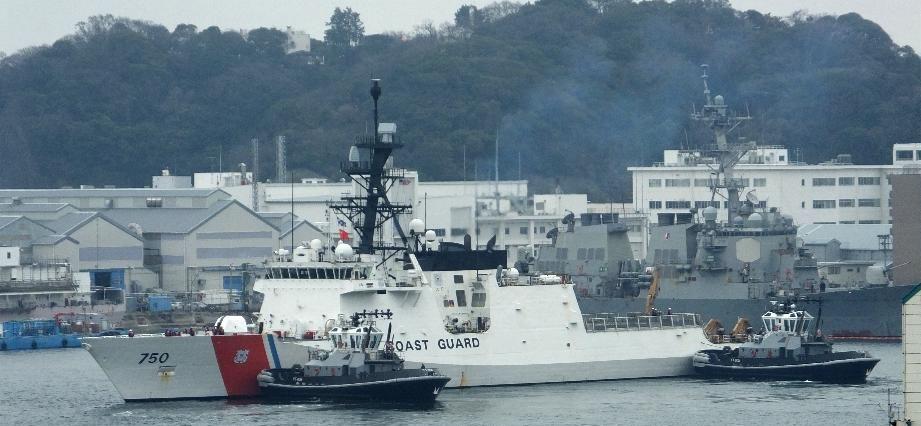 美国海岸警卫队巡逻舰抵达日本,排水量与054相当!