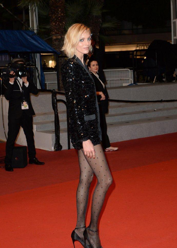 波兰模特Anja Rubik出席戛纳电影节,尽显超模风采
