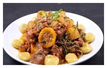美食推荐:鸡块排骨烩年糕、沸腾肝片、银巢茄夹制作方法