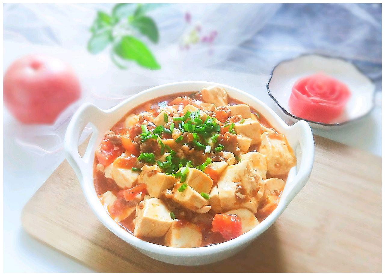 父亲节,给老爸做道菜番茄肉沫豆腐