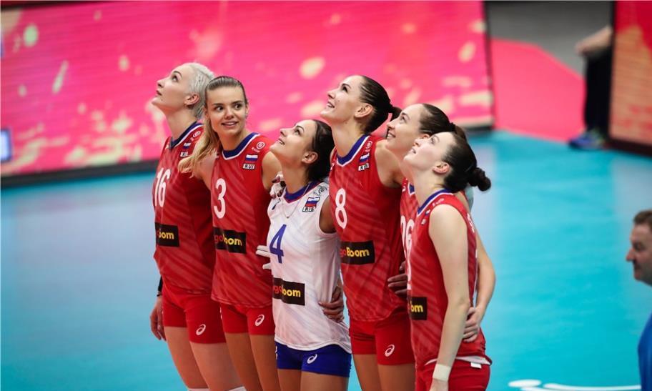 冈察洛娃31分俄罗斯女排3:2日本女排2019女排世界杯