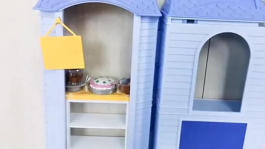 拆装芭比娃娃的蛋糕店,小蛋糕,服务员,收银台也太真实了吧!