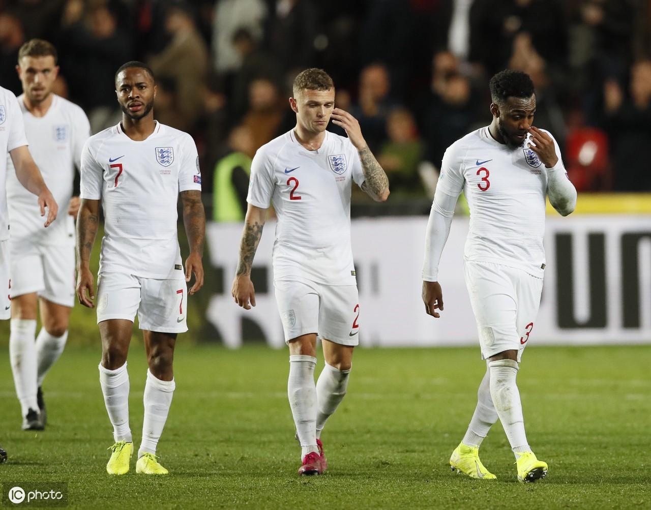 在布拉格辛诺博体育场举行的欧洲杯2020年资格赛英格兰队与捷克队