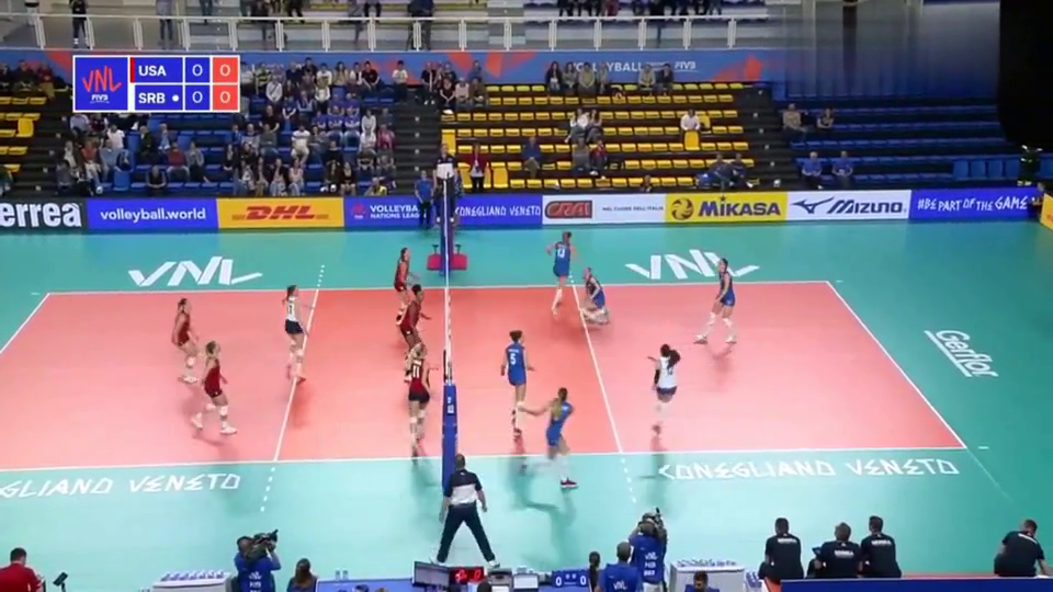 女排:集锦!美国女排3-1塞尔维亚,世界女排联赛第2周比赛!