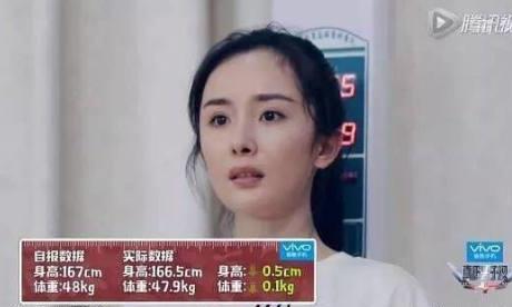 五位女星,杨幂杨颖王子文刘诗诗张慧雯,谁的真实体重最轻
