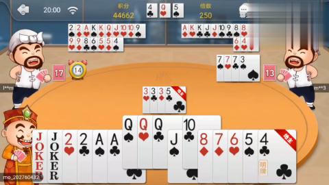 这么散的牌应该是不要,但有双王必须要拿牌,不能失信啊