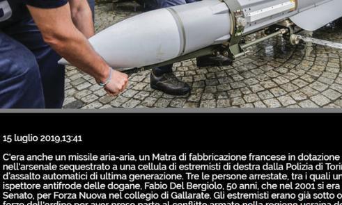 太疯狂!意警方突袭极端尤文球迷组织,缴获大量武器+对空导弹