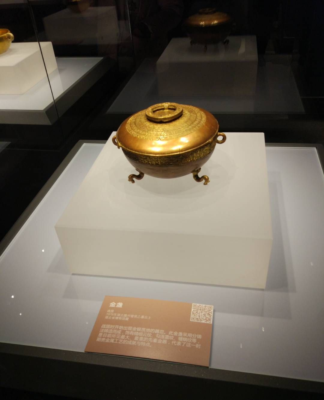 一组博物馆照片:钱币、金板、金盏,越王剑