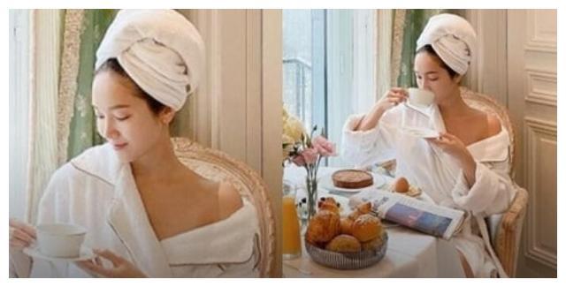 """Jessica 郑秀妍晒""""浴袍照"""",大秀香肩,炫耀着巴黎的悠闲生活"""