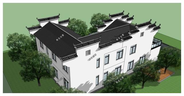 农村两层新中式徽派别墅,带小院,二层露台,给父母养老图片