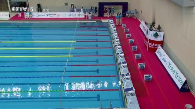 全国游泳冠军赛女子50米仰泳决赛 傅园慧27秒61夺冠