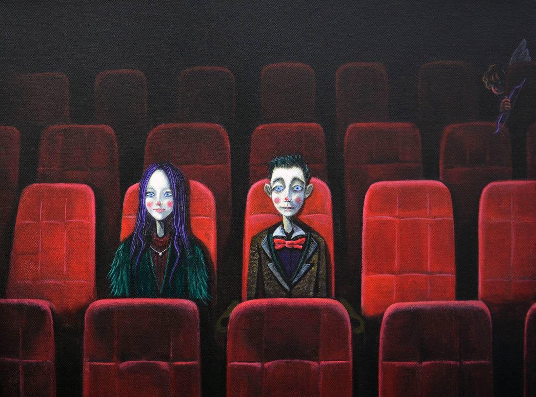 河北师范大学油画系研究生曹业博王者丑死系列油画作品