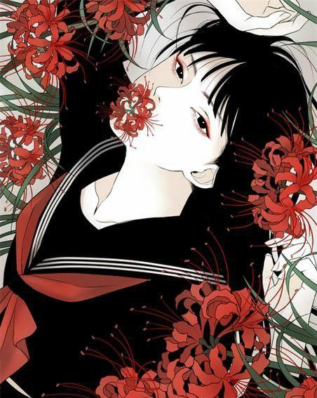 曼珠沙华美图壁纸:我在暗处望着光,想要接近又怕灼伤