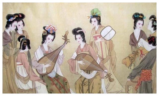 中秋品茶 手绘图