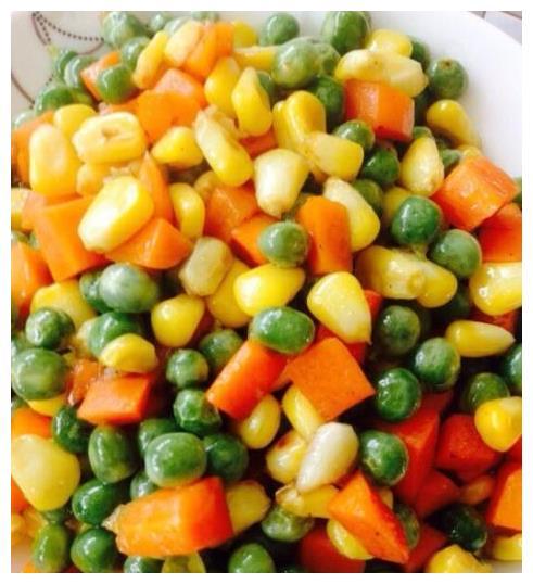 豌豆玉米粒,一道家常菜,还可以当配菜