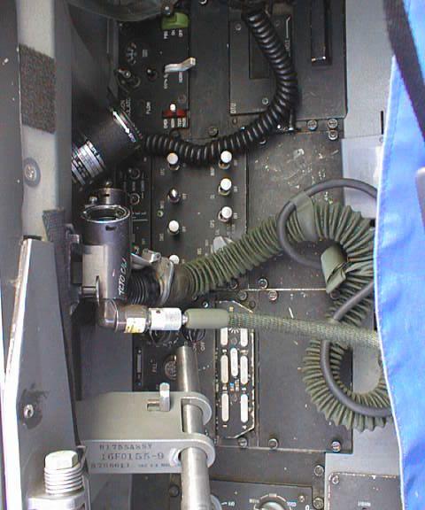 外国战机驾驶舱的特写
