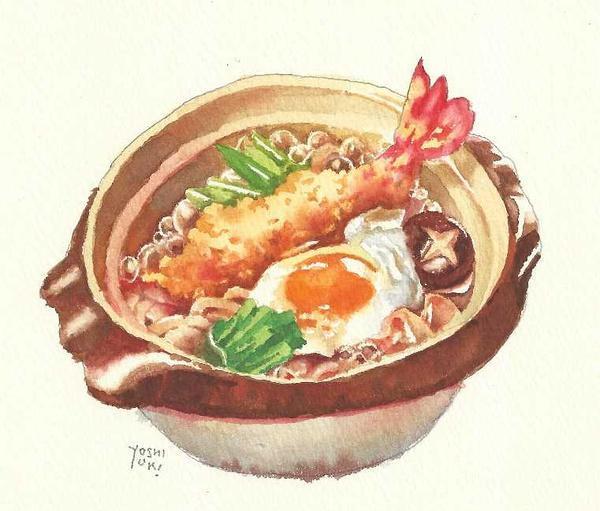 这位水彩画家画出特色招远美食什么美食有图片