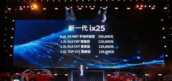 北京现代新一代ix25正式上市 售价10.58-13.68万元