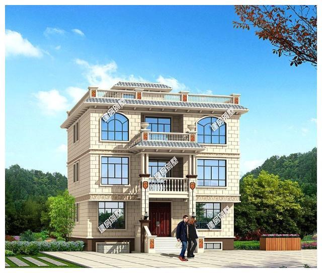 8×13.8三层平顶别墅,带地下室车库酒窖设计,8主卧