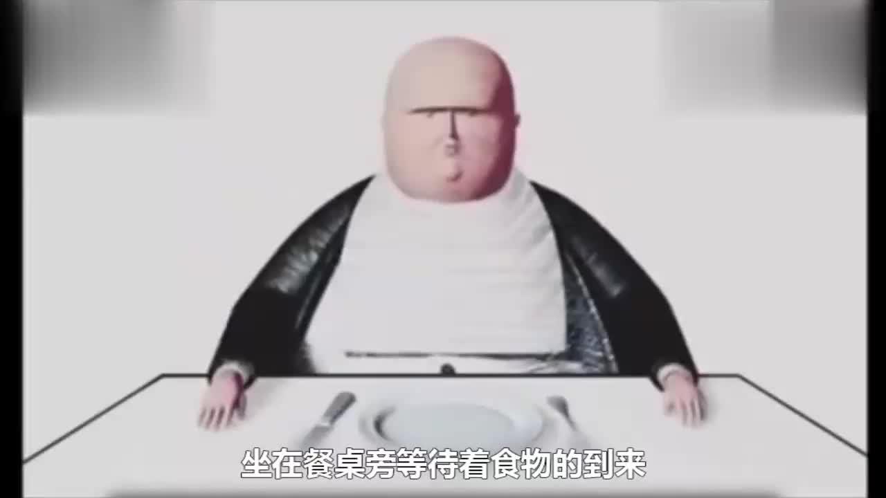 在一个荒诞的世界肥胖的人类不用工作只需用刀叉不停地吃蜗牛