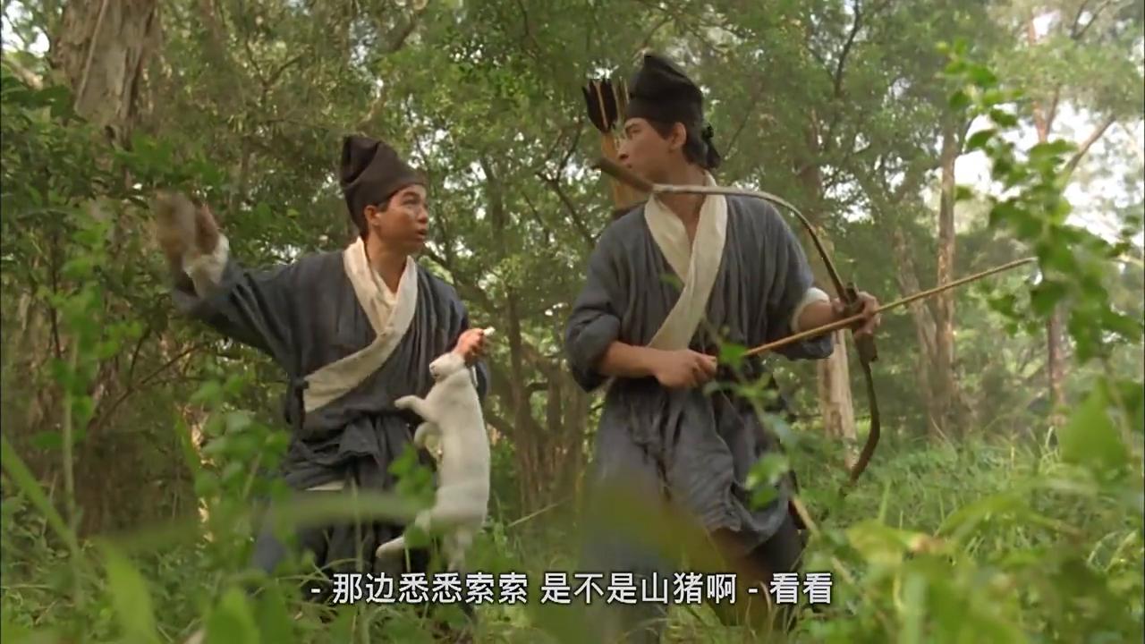 笑傲江湖:李连杰师兄弟路遇强敌,逃跑中还不忘让李嘉欣给他带酒