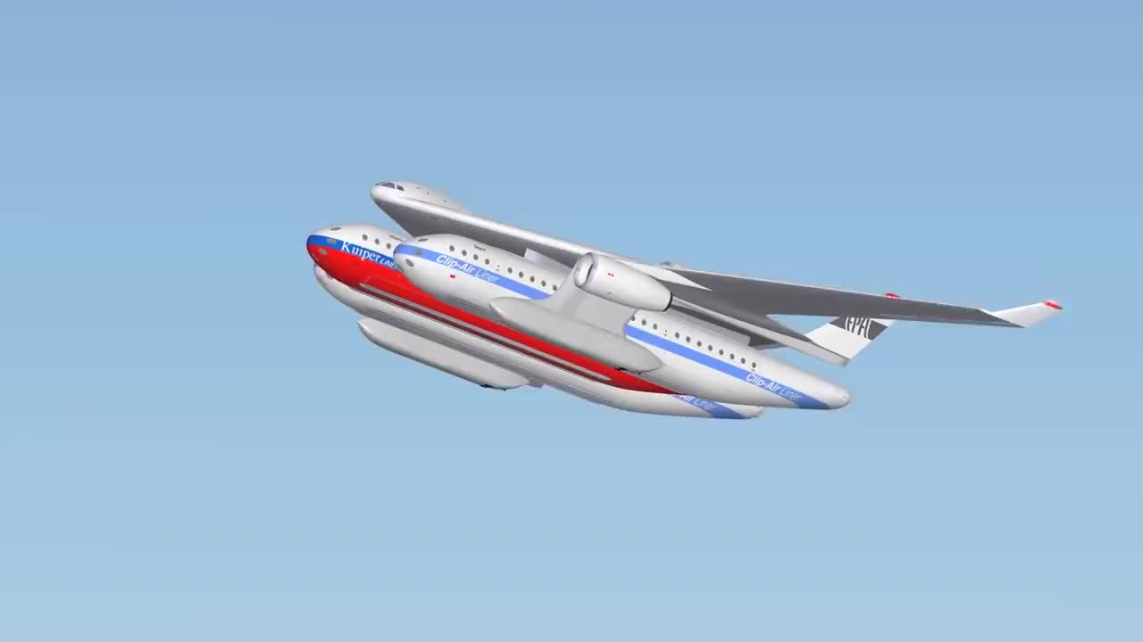 法国发明空中高铁飞机和高铁融合载客1500人改变交通规则