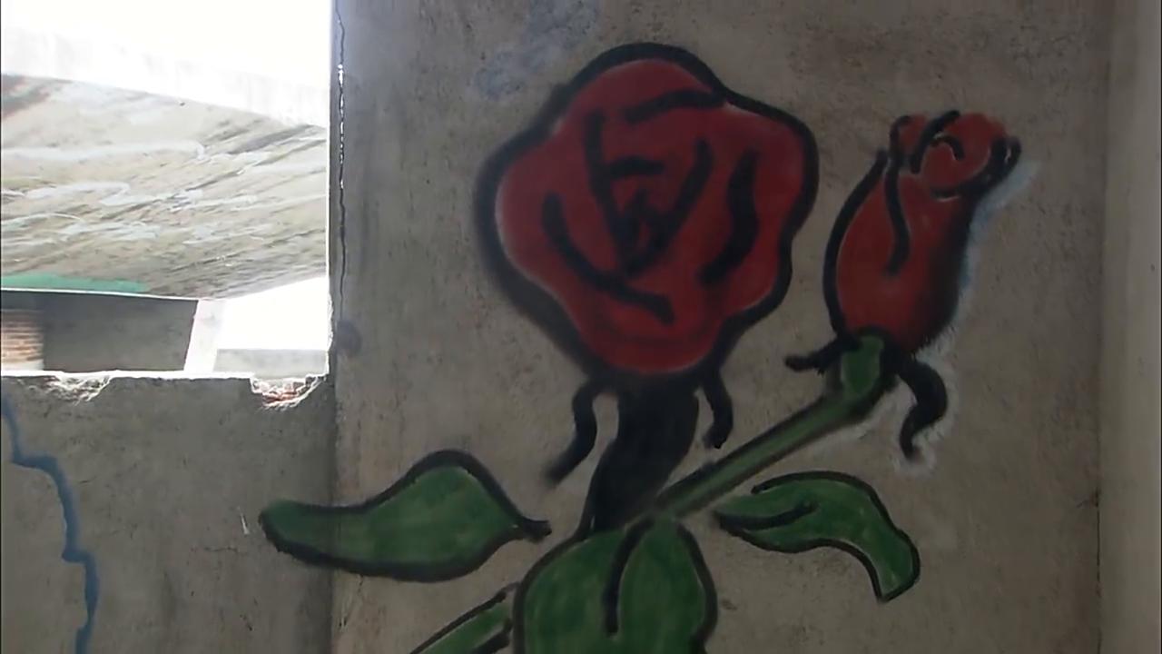 张冲竟在墙上画玫瑰哄的乌云眉开眼笑,帅啊
