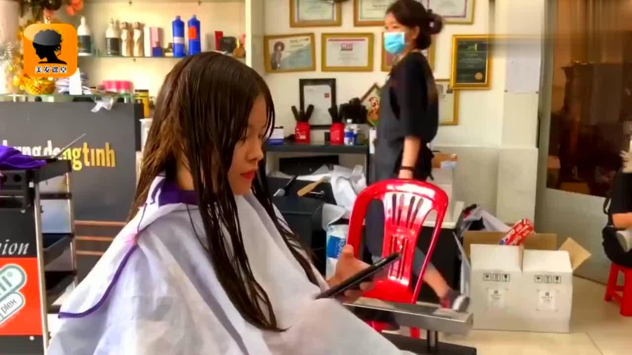 烫一个流行的LOB发型要这么多道工序,难怪理发师都说烫发不贵