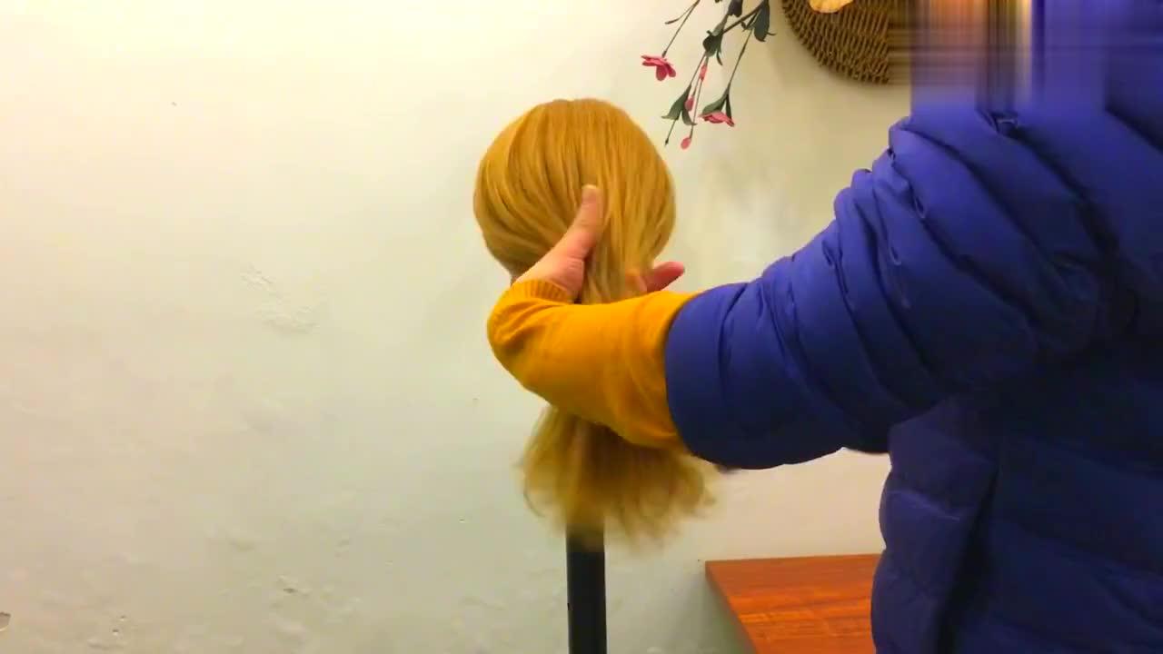 教你一款适合上班族的盘发,低调优雅显气质!