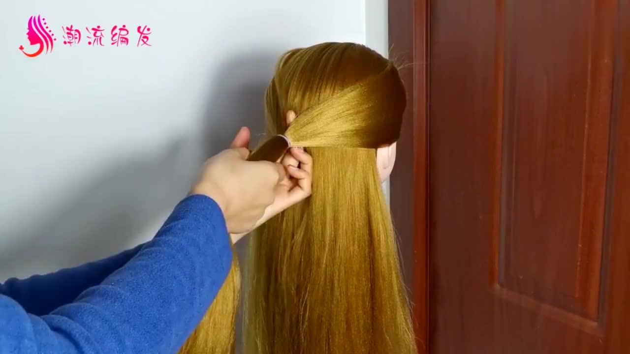教你一款优雅盘发,无论穿什么衣服出席什么场合都适用!