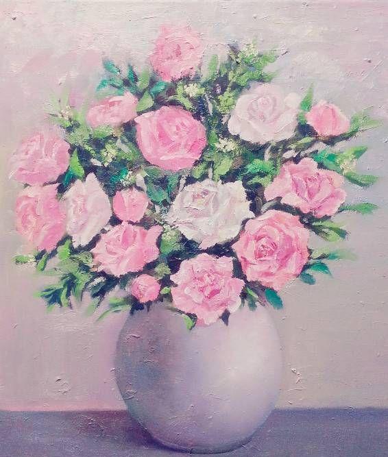 上海师范大学美术学院油画系毕业研究生周歆的花卉油画作品