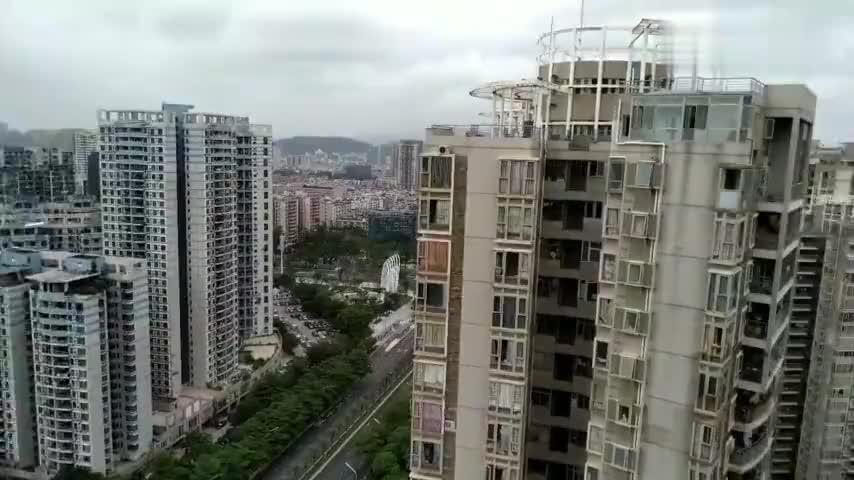 深圳实景拍摄高层建筑住宅就是好空气好视野远