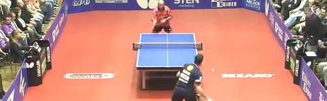 2015欧冠乒乓联赛 科贝尔vs吉奥尼斯 赛前训练