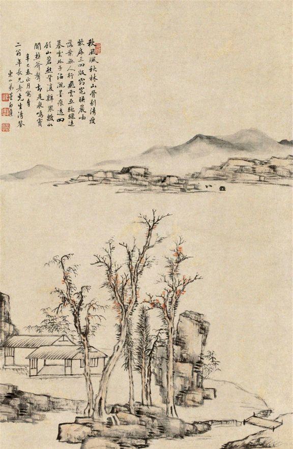 清代雍正、乾隆时期官员画家董邦达山水画作品欣赏
