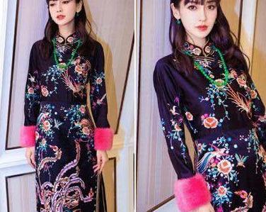娱乐圈女明星旗袍装  迪丽热巴章子怡杨颖张曼玉谁更优雅迷人?