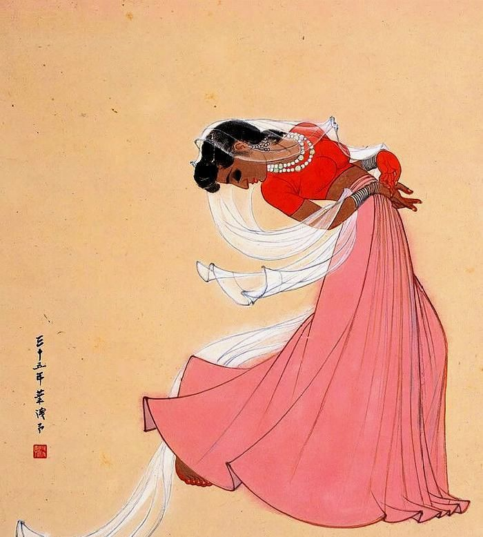 美人画中来,大师叶浅予11幅舞蹈人物画欣赏