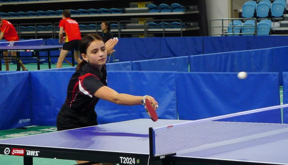 中俄首届青少年乒乓球比赛在黑河市举行