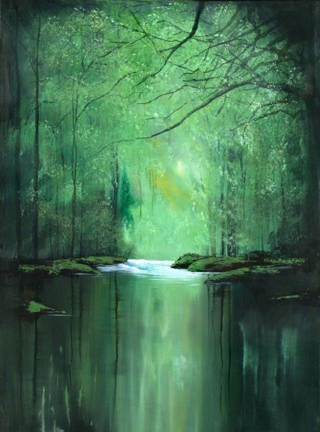 一组漂亮的水彩风景画